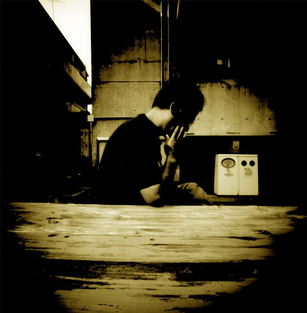 ピンホールカメラで撮った自写像です
